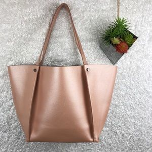 Neiman Marcus Bags - Neiman Marcus Shimmering Dusty Pink Tote